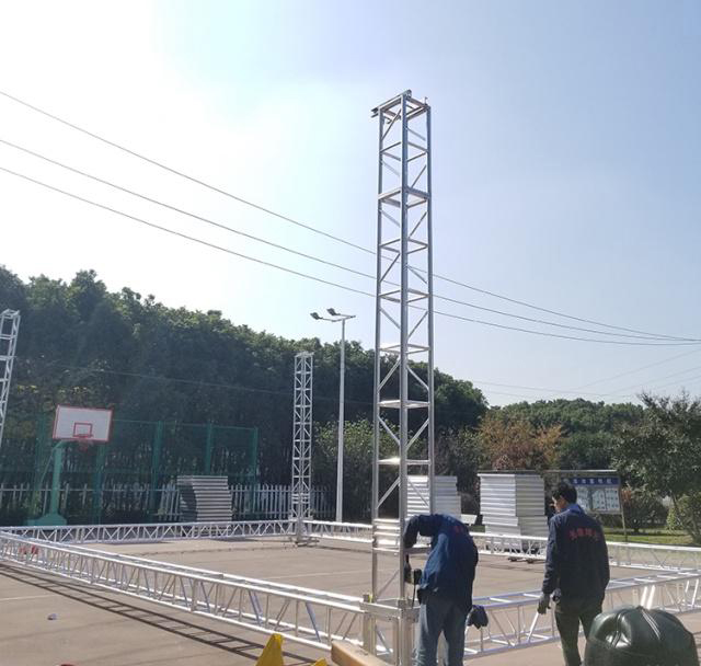 Aluminum alloy truss light frame installation 11