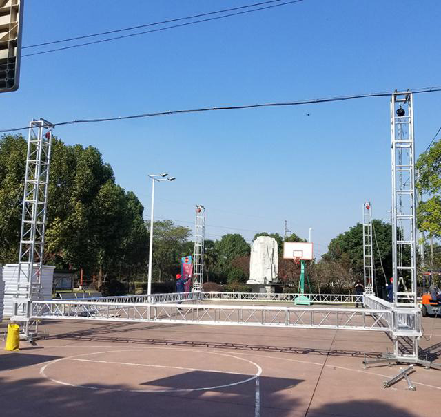 Aluminum alloy truss light frame installation 15