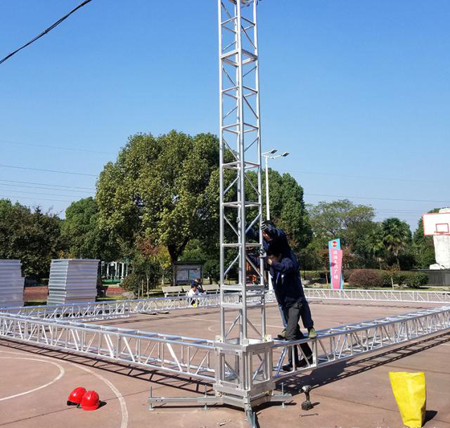 Aluminum alloy truss light frame installation 18