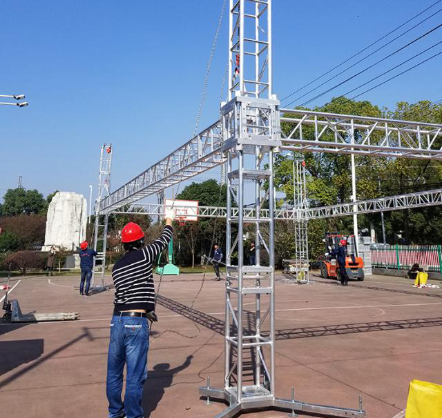 Aluminum alloy truss light frame installation 19