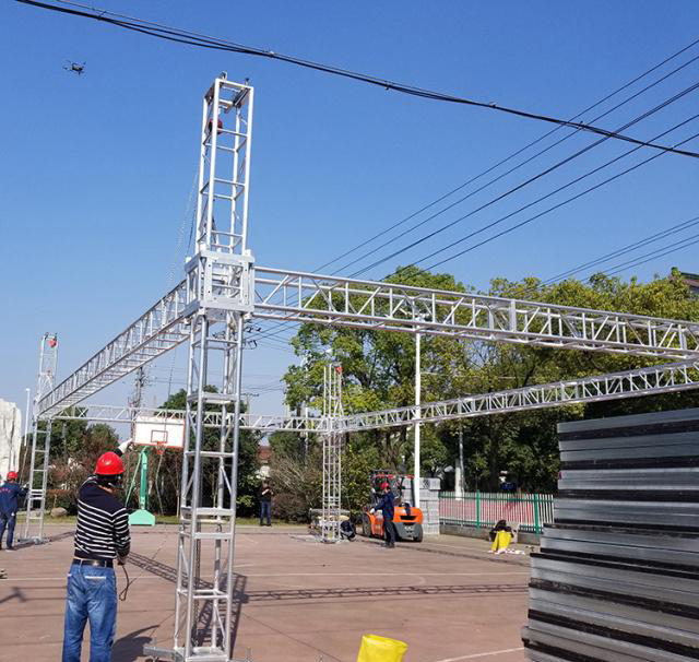 Aluminum alloy truss light frame installation 20