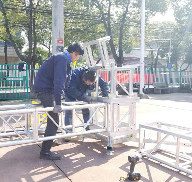 Aluminum alloy truss light frame installation 4